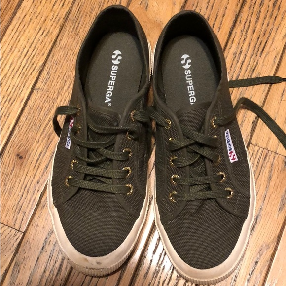 Army Military Green Superga Sneakers W7